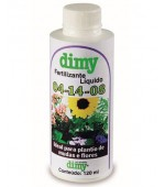 Fertilizante Líquido para Flores NPK 04-17-08 -120ml Dimy